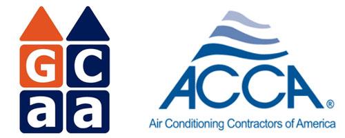 GCAA and ACCA logos